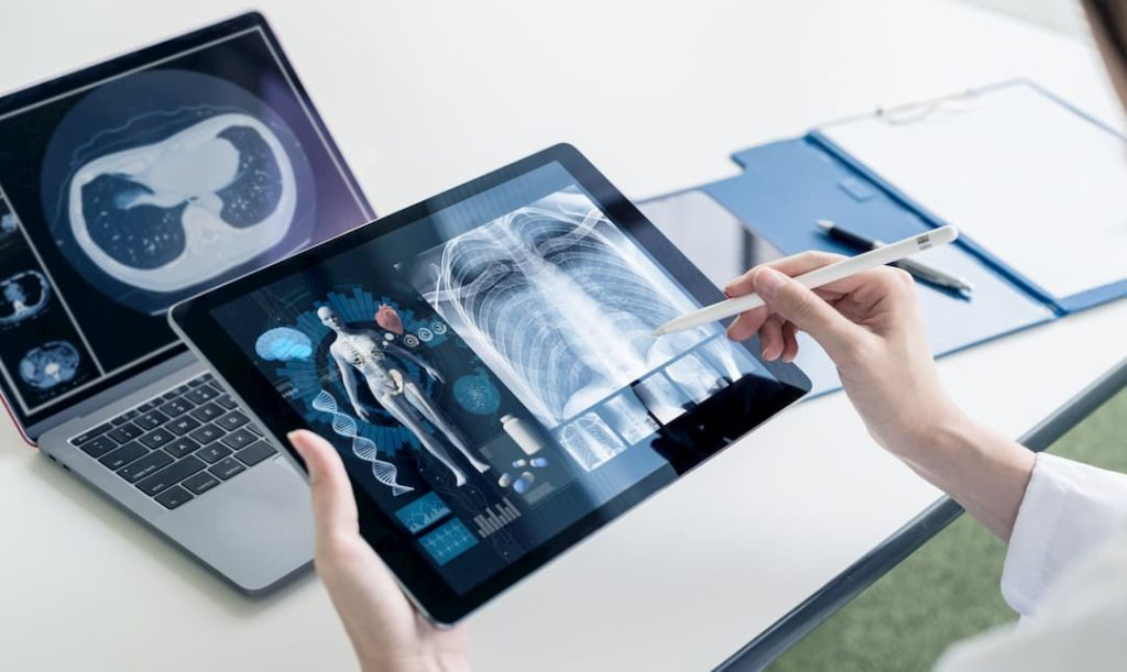 Technology solutions that bring more efficiency in healthcare. Organisation-wide deployment of Apple products and related software solutions by Ridham Enterprise, Apple Authorised Reseller in Ahmedabad, Gujarat