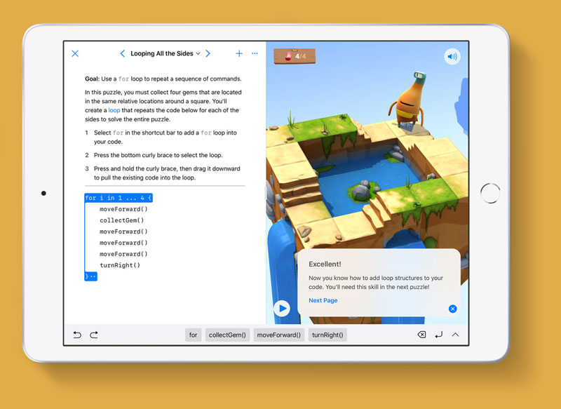 Coding for kids with Apple iPad